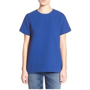 Madewell Tailored Tee in Cobalt Blue Blouse